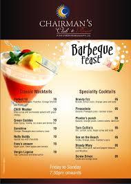 barbeque menu