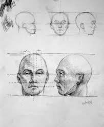 drawing of a head
