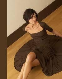 brown short dress