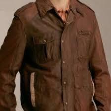 boss leather coat