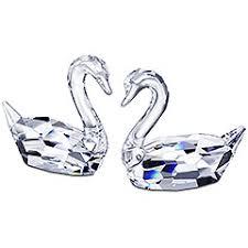 crystal swans