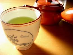 green tea drinking