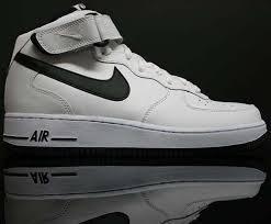 nike air force one white black