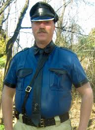 leather police shirt