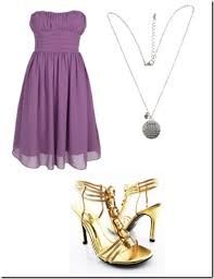 accessories for purple dress