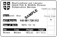 hunter safety card