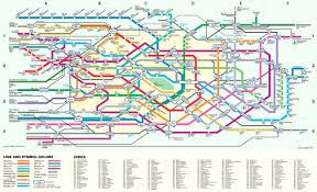 railway map japan