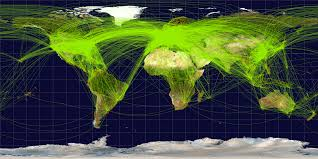 airline destination map