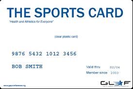 gym membership card