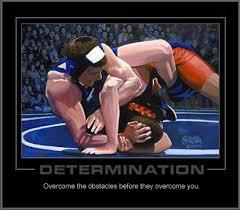 college wrestling poster