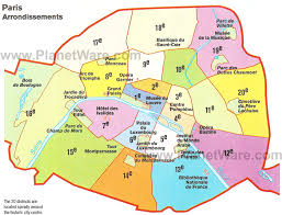 paris map arrondissements