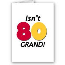 80 birthday cards