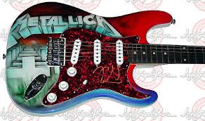 metallica signed guitar