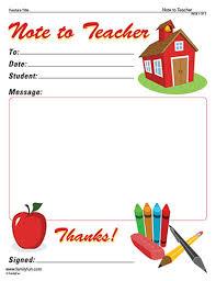 note from teacher