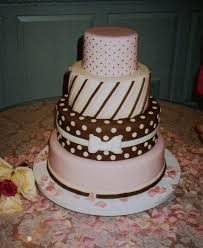 pink and brown wedding cakes