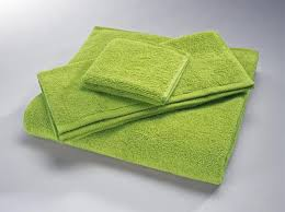green towel
