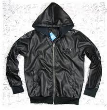 adidas leather coat