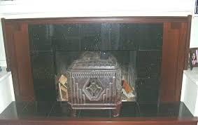 granite tile fireplace