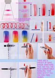 airbrushing nail art