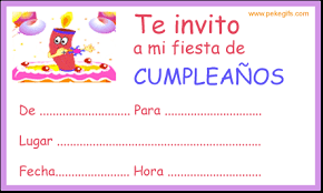 invitaciones de cumpleanos infantiles