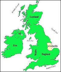 map of england for kids