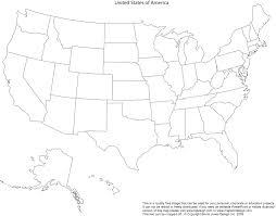 blank printable map of usa