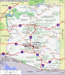 map of the arizona