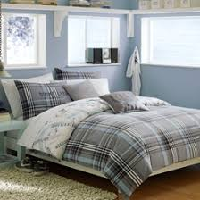 blue plaid sheets