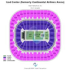 izod center seating