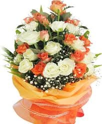 orange flower arrangement