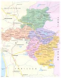 palakkad district map