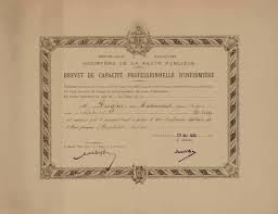 nursing certificate