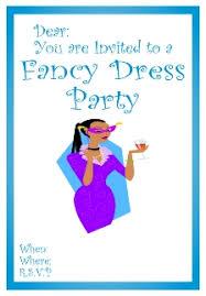 fancy dress invitation