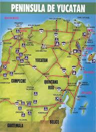 map mexico yucatan