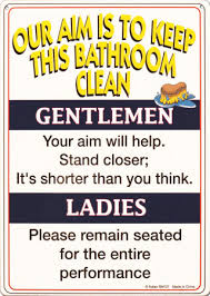 bathroom rules signs