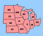 map of midwestern us