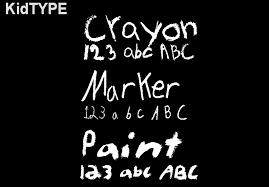kids handwriting fonts