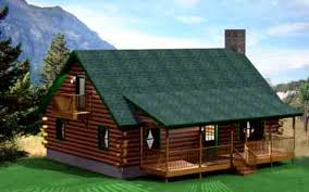 one story log homes
