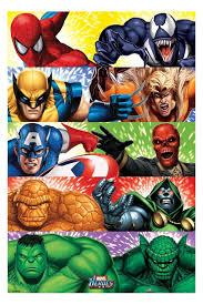 marvel characters poster