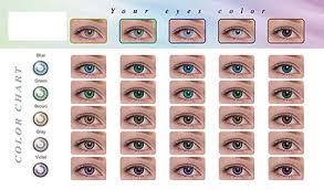 contact lens color chart