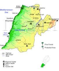 map of south lebanon