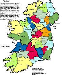 counties ireland map