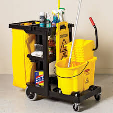 rubbermaid janitor carts