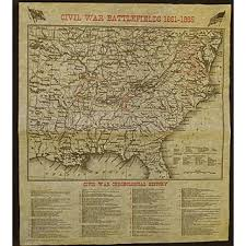 civil war battlefields map