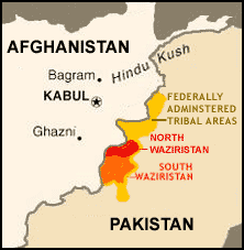 map of waziristan
