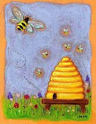 bee hive drawing