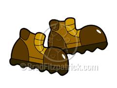 hiking boot clip art