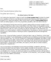 sample cv cover letter