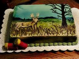deer birthday cake