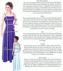 dress measurement guide